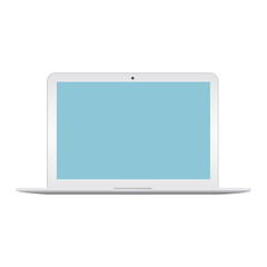 A laptop screen display. Can be used with custom images