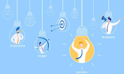 Flyer Brainstorming for Target Successful Teamwork