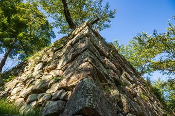 Japanese sharp stone wall ,Awaji island
