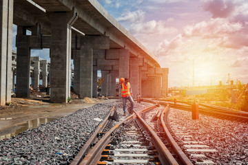 engineer railway in the city