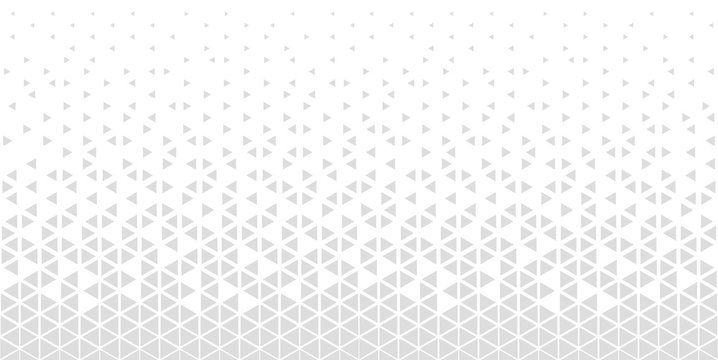 Halftone triangle abstract background. Monochrome geometric vector pattern.