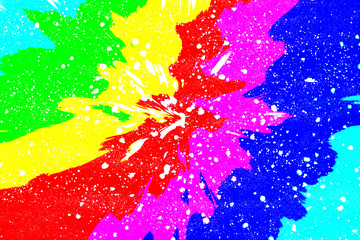 An abstract rainbow colored background image.