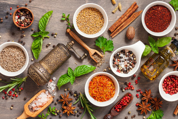 Fotorolgordijn Kruiden Spice and herb seasoning