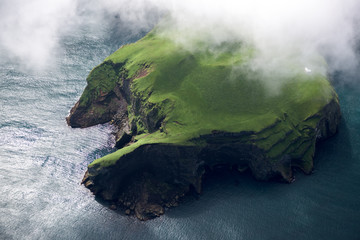 Photo sur Toile Ile Aerial view of beautiful small island in Iceland