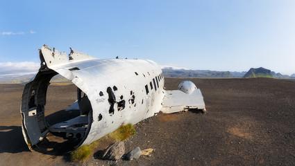 The abandoned plane wreck  on Solheimasandur beach, Iceland