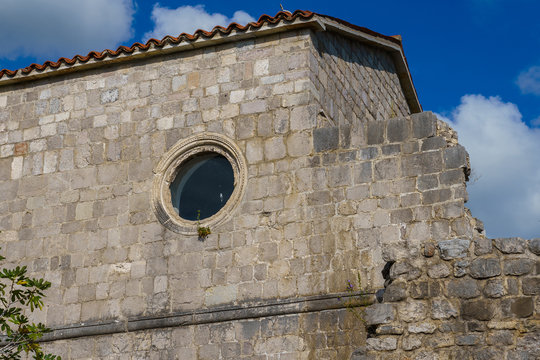 antique architecture, the remains of ancient buildings in the city of Bar on the Adriatic coast