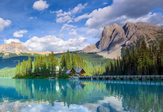Beautiful emerald lake, Yoho national park, British Columbia, Canada