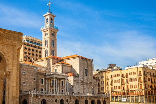 Saint Georges Maronite cathedral in the center of Beirut, Lebanon