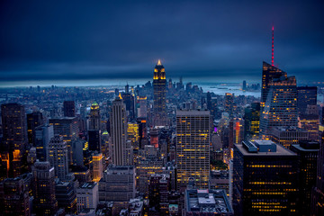 Newyork city at night, New York, United Staes of America