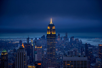 Foto auf Leinwand New York Newyork city at night, New York, United Staes of America