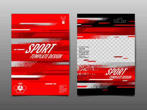 sport template Design, Abstract Background, Dynamic Poster, Brush Speed Banner, grunge ,Vector Illustration.