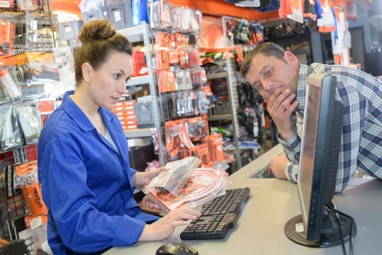 ordering mechanical parts from the hardware department