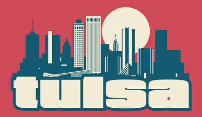 Wall Mural - Tulsa Oklahoma USA skyline