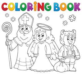 Coloring book Saint Nicholas Day theme 3