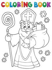 Coloring book Saint Nicholas topic 2