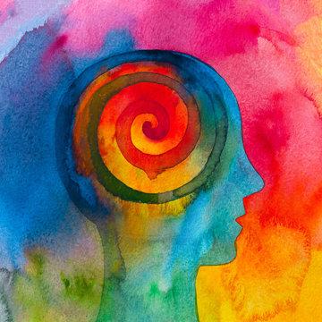 Disegno grafico meditazione energia spirituale