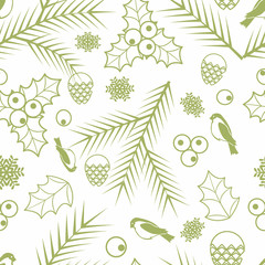Seamless Merry Christmas and Happy New Year background vector image 17