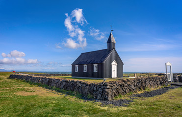 The Black Church (icelandic Budakirkja), Budir, Iceland