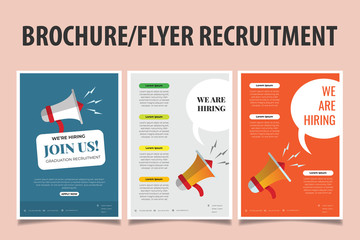 Brochure or Flyer for Recruitment. Job Vacancy Advertisement Concept