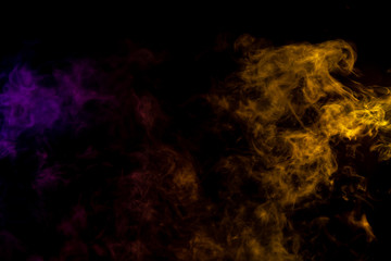 purple and yellow abstract smoke background