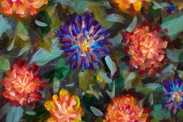 Beautiful flowers painting