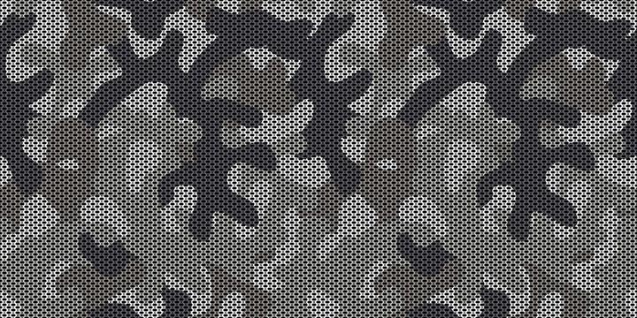 Seamless gray urban camo pattern vector