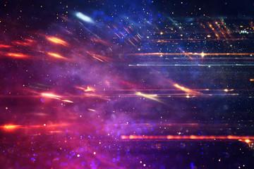 background image of bokeh light burst made from flare motion