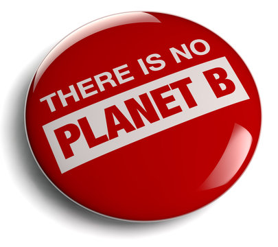 There is No Planet B Red Symbol