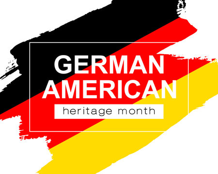Hand draw German American heritage flag in vector