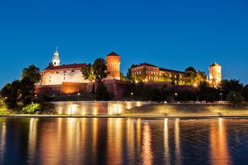 Krakow (Cracow) at night, Poland