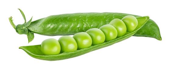 Fototapeta peas isolated on white background obraz