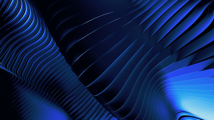 Wavy blue abstract background