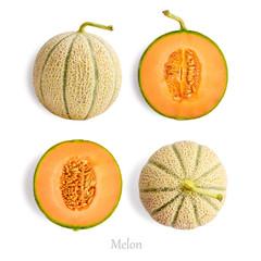 Set of ripe melon