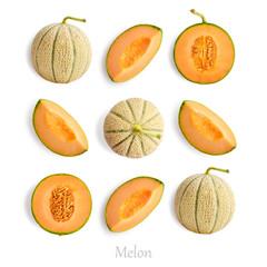 Wall Mural - Set of ripe melon