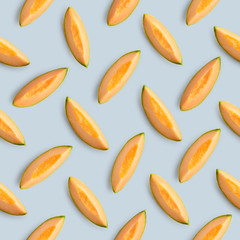 Wall Mural - Colorful fruit pattern of melon slices