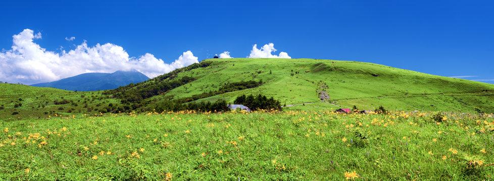 長野県・夏の車山高原 パノラマ 1