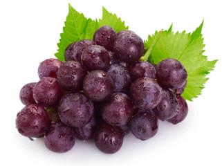 Fresh grape on white background Fototapete