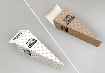 Cone Style Paper Box Mockup