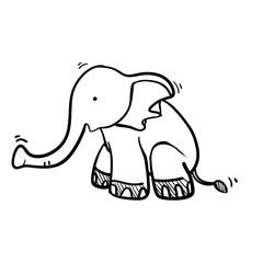 Foto op Plexiglas Babykamer doodle elephant illustration vector