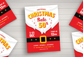 Christmas Sale Graphic Flyer Layout