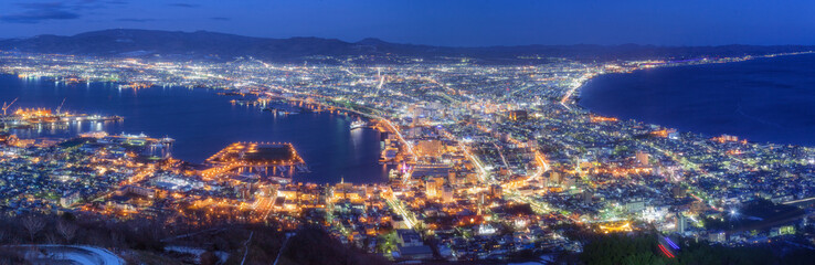 北海道・函館山からの夜景