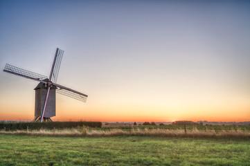 An beautiful windmill