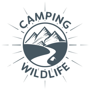 Camping Wildlife sign or symbol
