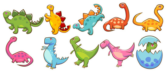 dinosaur vector set clipart design