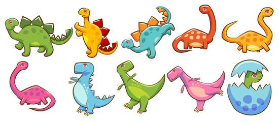 dinosaur vector set clipart design