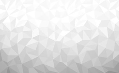 White Polygonal background, Vector illustration, Business Design Templates.