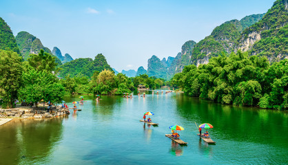 Door stickers Guilin The Beautiful Landscape Scenery of Guilin, Guangxi