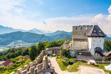 View at the Old Catle of Celje in Slovenia