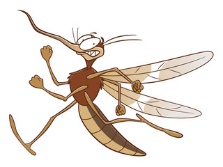 Running scared mosquito