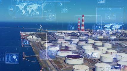 産業とテクノロジー Wall mural